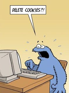 How to pass the Google Analytics Certification test via SEOmoz.com: Delete Cookies, Sesame Street, Cookie Monster S, Funny Picture, Funny Stuff, Deletecookies, Funnystuff, Poor Cookie