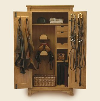 tack trunk designs   For your saddle and tack: European armoire