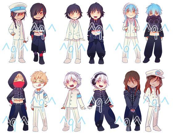 Black And White Aoba, Sly, Nöiz, Clear, Koujaku, Ren