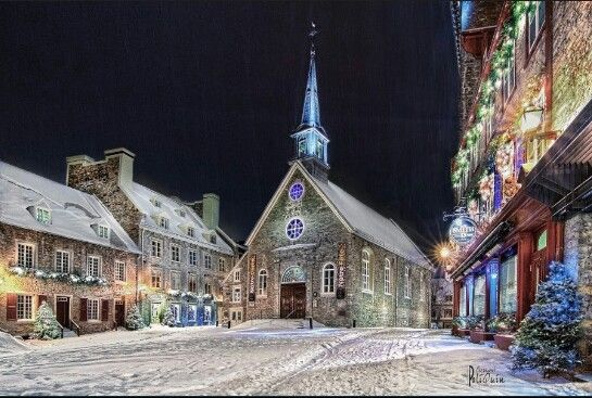 Eglise Notre Dame des Victoires,Vieux Québec-Clermont Poliquin.