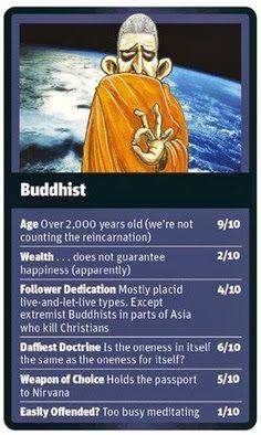 Funny Religion Top Trumps Card Buddhist Picture