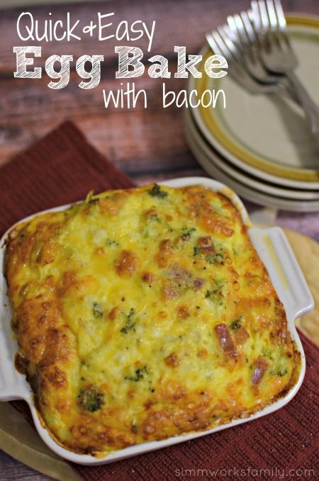 Easy Egg Bake Recipe with Bacon | Recipe | Popular, Cottages and Bacon