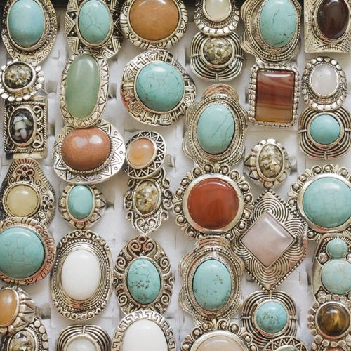 vintage bohemian rings