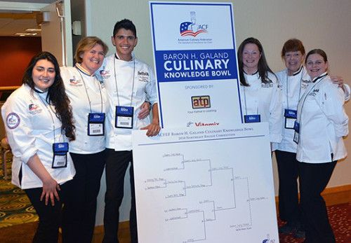 Suffolk's Top Chefs Are Regional Champs in Culinary Knowledge Bowl Photo L to R: Danni Benincasa (Patchogue), Culinary Professor, Coach and Chef Andrea Glick, Knowledge Bowl Team Captain Leonardo Figueredo , Ann Marie Trksak (Holbrook) , Assistant Coach Sherry Mazze, Shannon Adams (Bay Shore).
