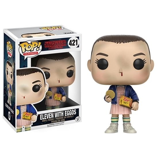 From The Tv Show Stranger Things Eleven With Eggos As A Stylized Pop Vinyl From Funko Pop Stranger Stranger Things Funko Pop Pop Vinyl Figures Vinyl Figures