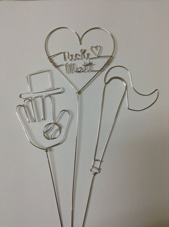 PLAY BALL Baseball Wedding Cake Topper with by HeatherBoydWire, $39.00