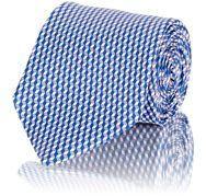 Barneys New York BARNEYS NEW YORK MEN'S GEOMETRIC-PRINT NECKTIE-BLUE