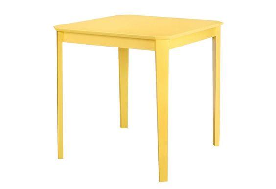 In 2 Größen und 6 Farben. Beine aus hochwertigen, teilmassiven Hevea-Holz, Tischplatte aus MDF, lackiert.  Maße (B/T/H) ca.: B/T/H 75/75/76 cm oder B/T/H 110/75/76 cm.  Mit Aufbauanleitung....