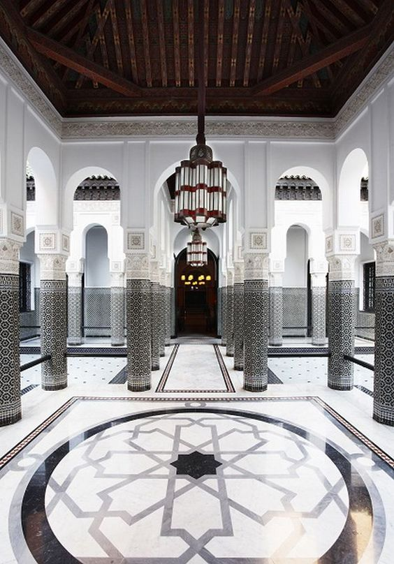 Hotel La Mamounia, Marrakech. Built in 1920, recently it went through a 3 year long beauty slumber (reopening late 2009).