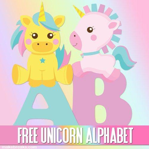 Cute Unicorn Alphabet Letters To Print Free Printable Alphabet