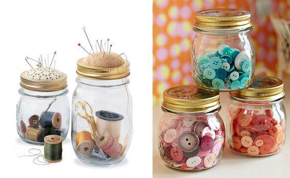 Como reutilizar potes de vidro: Picture, Ideas For, Potes De Vidrios, Decoration, For Decoration
