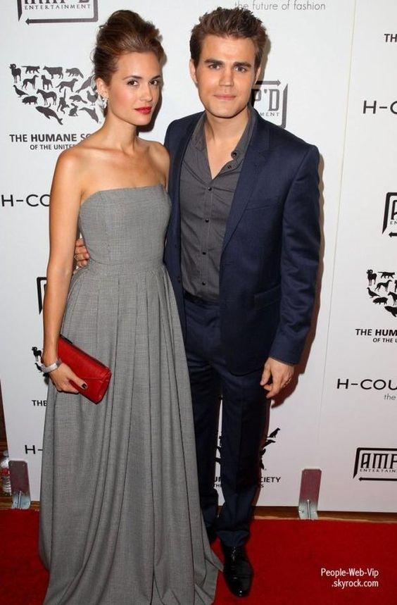 Paul Wesley et sa femme Torrey DeVitto apercu pendant la  Humane Society of the United States' H-Couture 2012 Fur-Free Fashion Show  ( samedi (Septembre 22) à Los Angeles.)