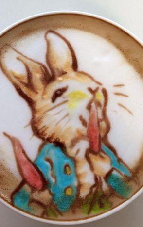 Latte Art, rabbitt                                                       …