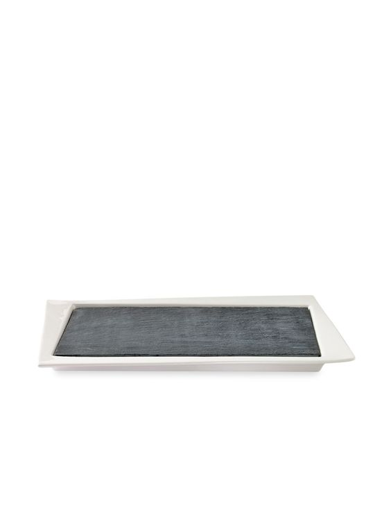 Slate & Porcelain Serving Tray (2 PC) by Luigi Bormioli at Gilt