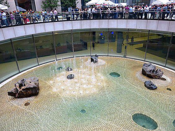 """Sunken Garden,"""" circular sculpture 60 feet in diameter by artist ..."""