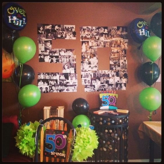 Birthdays 50th birthday party and idea share on pinterest for 50th birthday decoration ideas