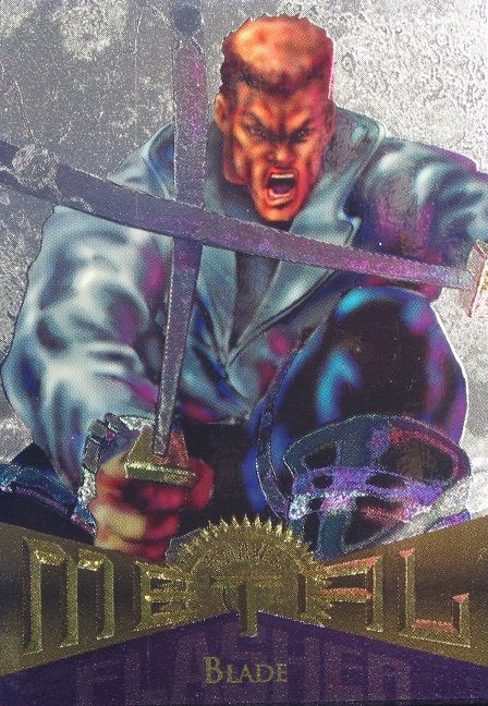 Blade 1995 Marvel Metal Card Number #56