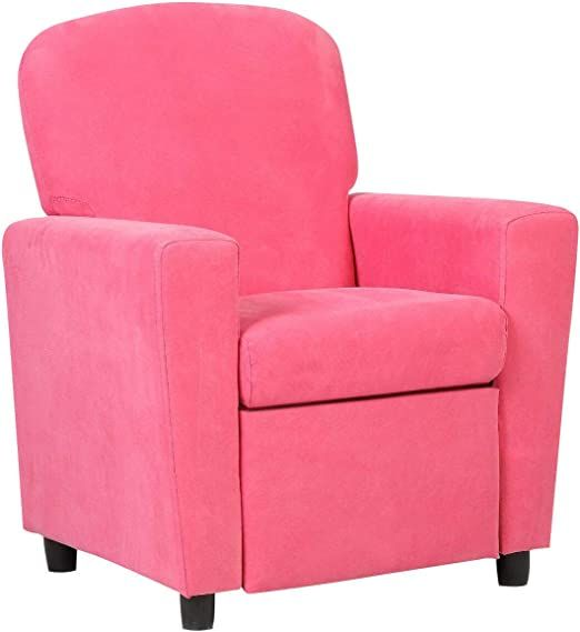 Pink Kids Recliner Sofa Children Couch Lounge Adjustable Backrest Arm Chair Suede Cloth Upholstery With E In 2020 Living Room Recliner Kids Living Rooms Kids Recliners
