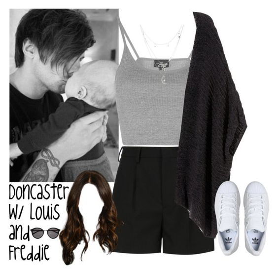 """Doncaster with Louis (Brother) and Freddie (Nephew)"" by alanalove-123 ❤ liked on Polyvore featuring Topshop, Yves Saint Laurent, H&M, adidas, Charlotte Russe, louistomlinson and freddietomlinson"