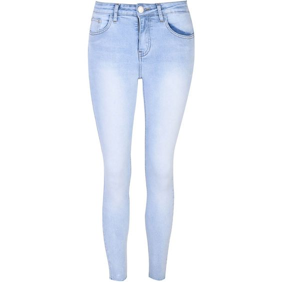 Bleach Wash Skinny Jeans ($39) ❤ liked on Polyvore featuring ...
