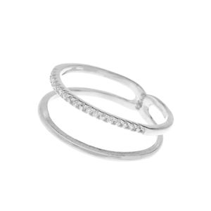 2er Ring mit Zirkonia, silber - Art.-Nr.: R4195  #Leafschmuck #Leafjewelry #jewelry #rose #rosé #gold #fashion #style #stylish #cute #beautiful #beauty #jewelry #jewels #jewel  #fashion #gems #gem #gemstone #bling #stones #stone #trendy #accessories #love #crystals #ootd #fashionista #accessories #fashionjewelry #look #outfit #ring