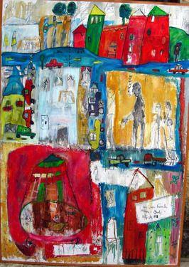 "Saatchi Online Artist Julie Bou Farah; Painting, ""moments"" art"