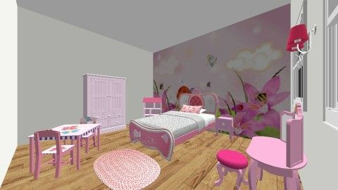 Princess Girls Bedroom - Bedroom - by LaurenTheOwl95: