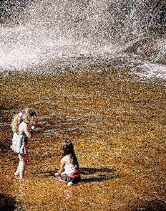 https://flic.kr/p/abBsnq | Na Cachoeira do Lajeado | Crianças.. Oh tempo bom !  Camera Canon com lente Vivitar 70~210 e filme Centuria ISO 200