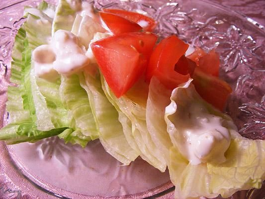 Sullivan's Steakhouse Wedge Salad Recipe, so good (terrible picture though)