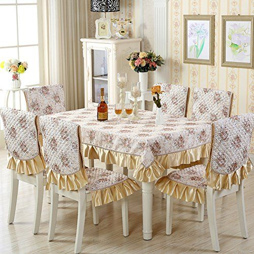 Fabric Dining Chair Pad Kit European Table Cloth Chair Cover