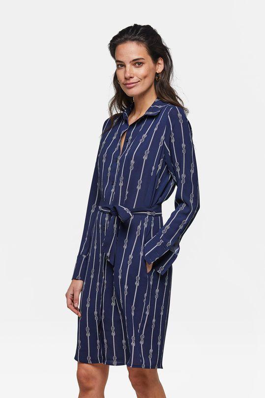 Verrassend Dames jurk | Vrouwen zakelijke kleding, Jurken, Donkerblauw PH-05
