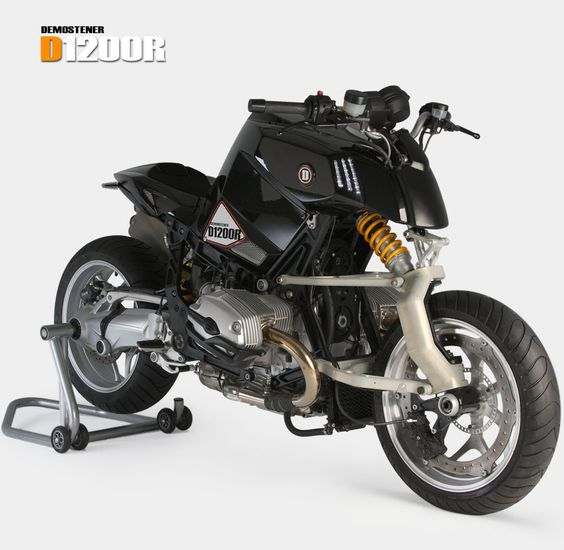 *motorcycles, engines, sport, speed* - BMW D1200R with mono-shock and single fork up front.