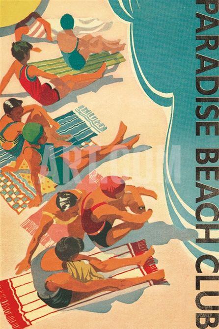 Paradise Beach Club Print at Art.com