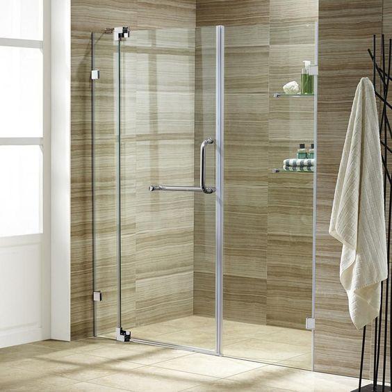 Pirouette 54 To 60 Inch X 72 Inch Frameless Pivot Shower Door In