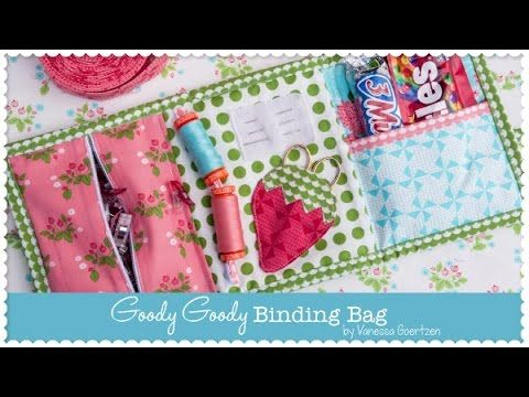 Goody Goody Binding Bag – How to sew in a Zipper - Lella Boutique - Fat ...