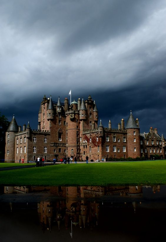"Glamis Castle in Angus, Scotland. On my list! A beautiful castle with lots of legend and folklore surrounding definitely sounds fun :) @Sara Miles - a ""haunted"" castle! We should go here (like a scary movie only better :)"
