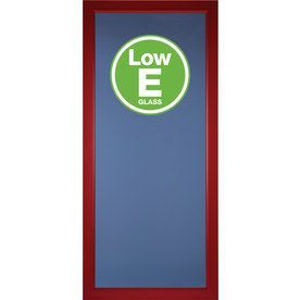 Pella Select Real Red Full-View Low-E Single Paned Glass Fully Interch