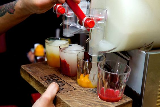 Frozen Margarita flights ... seriously. #tequila #bestbars #bars #margarita #slushies #booze #liquor #london #mexican #drinks #cocktails