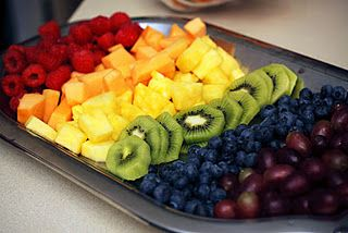 Girl Spa Party Ideas - Rainbow fruit plate