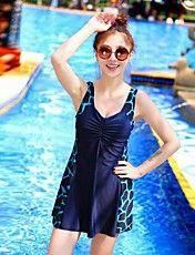La mujer más del tamaño de una pieza Shorts Deportes Natación Traje de baño