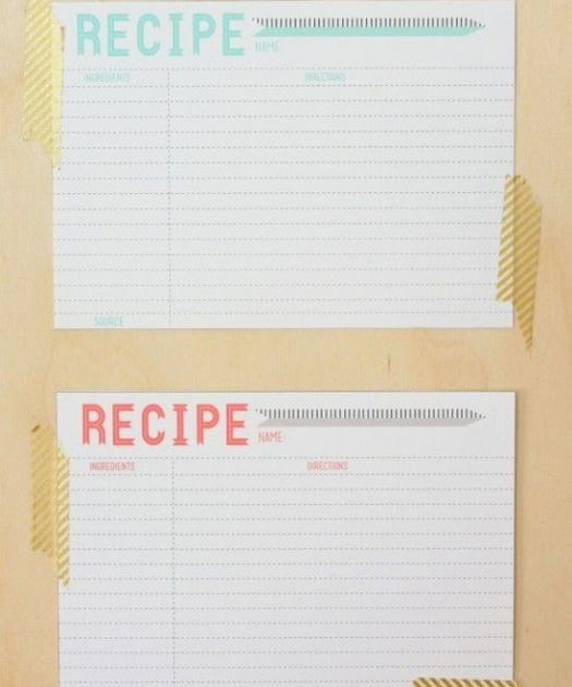 40 Recipe Card Template And Free Printables Full Recipe Here Part Of Me Was Dynamic Upon A Const Recipe Cards Template Printable Recipe Cards Food Printables