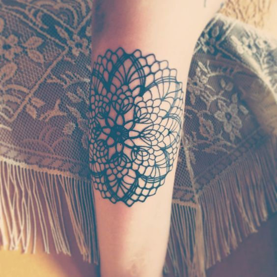 Doily tattoo by Andy Johnson at Long Street Collective Tattoo  Gallery, Columbus, Ohio.