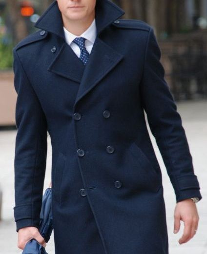 Men's Fashion: Peacoats and Blue Ties