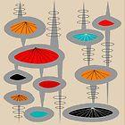 Atomic Era Inspired Art by Gail Gabel, LLC