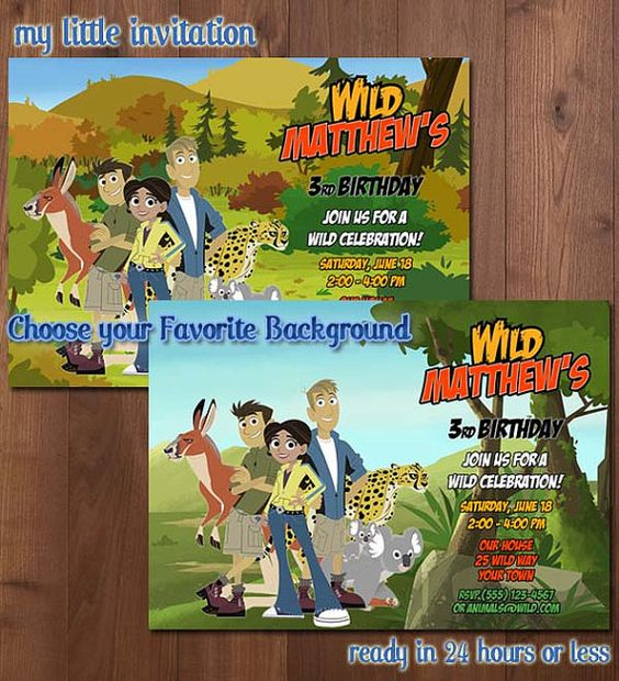 Wild Kratts Birthday Party Invitation  by MyLittleInvitation
