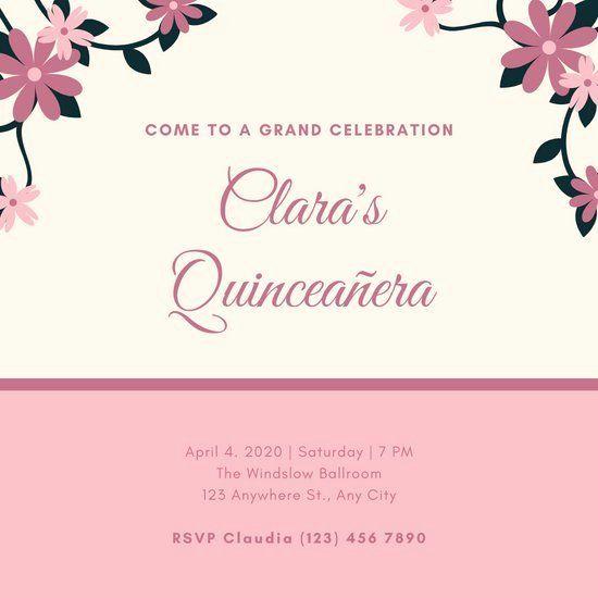 Free Quinceanera Invitation Templates New Customize 34 Quinceane Wedding Invitations Printable Templates Printable Invitation Templates Quinceanera Invitations