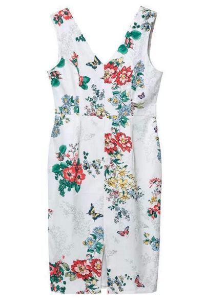 Nature-Inspired Floral Sheath Dress