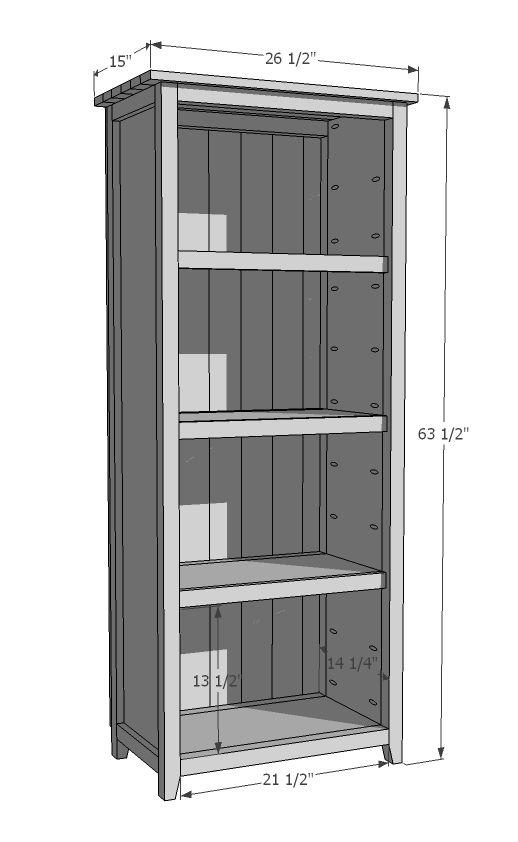 Bookshelves ana white and easy diy projects on pinterest for Bookshelf chair plans