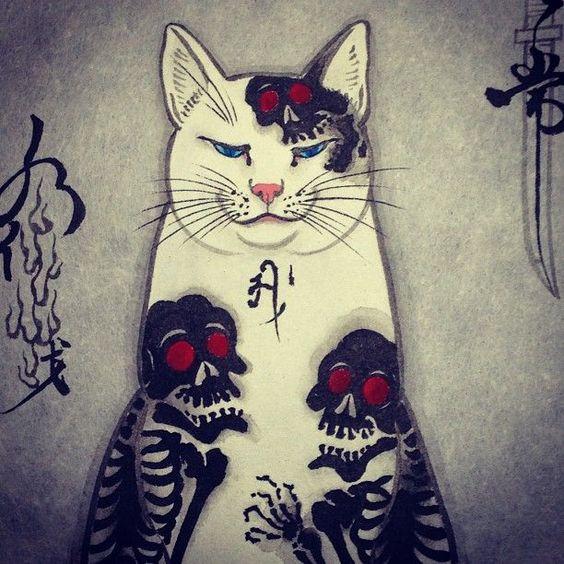 Horitomo Tattooed Cats - LoveLifePeaceAnimeSweet