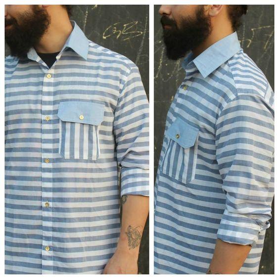 Easy going striped shirt for men